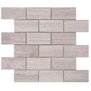 Mosaic Grey Marble 2x4 Brick Woodlight