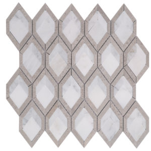 Mosaic Design Marble Magic Cube Cindy Grey + Carrara + O White