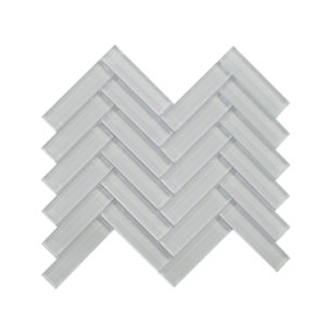 Mosaic 1x4 Herringbone Super White