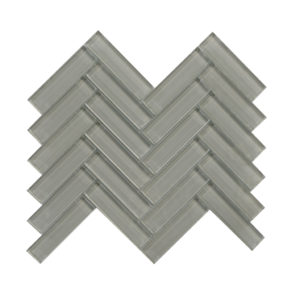 Mosaic 1x4 Herringbone Cool Grey